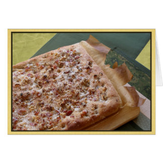 Blank Note Card  Parmesan, Bacon & Walnut Focaccia