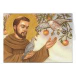 blank note card St Francis & birds
