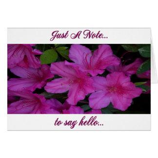 Blank Note  Card With Lavender Azaleas