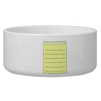 Blank Note Dog Food Bowl