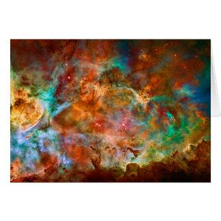 Blank notelet - Carina Nebula in Argo Navis Card