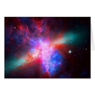 Blank notelet - Cigar Galaxy, Messier 8 Card
