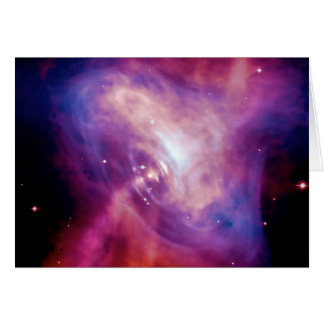 Blank notelet - Crab Pulsar Time Lapse Stationery Note Card