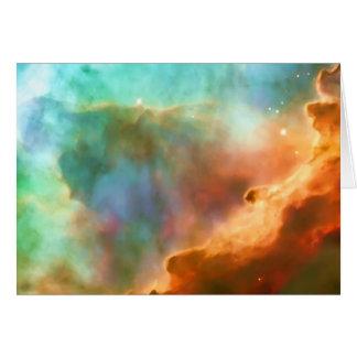 Blank notelet - enlarged area of The Omega Nebula Card