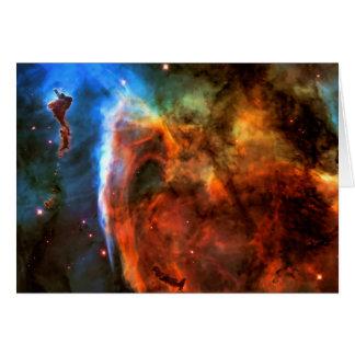 Blank notelet - Keyhole Nebula, Digitus Impudicus Card