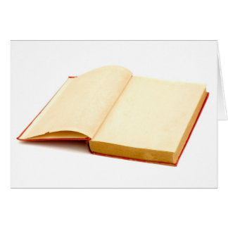 Blank pages of a old book card