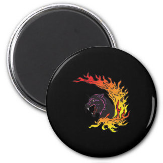blank panther and flames magnet