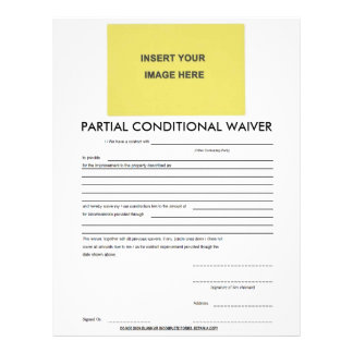 Blank Partial Conditional Waiver Form Letterhead