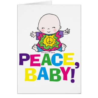 Blank Peace Baby Hippy / Hippie Tie Dye Card