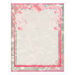 Blank Pearl Essence Paper Color Rose Flyers