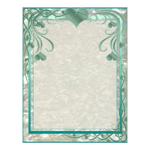Blank Pearl Essence Paper Color Teal Flyers