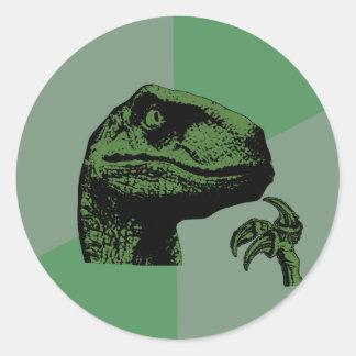 Blank Philosoraptor Classic Round Sticker
