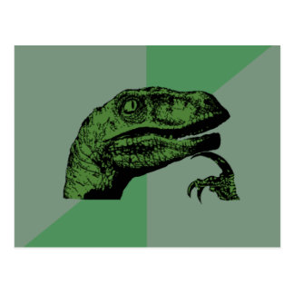Blank Philosoraptor Post Card