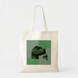 Blank Philosoraptor Tote Bag