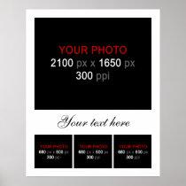 Blank Photo Collage Frame 4 Photos Poster
