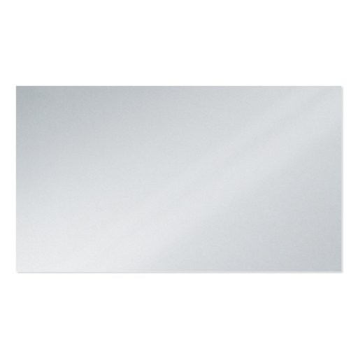 Blank Platinum Metallic Silver Business Card.