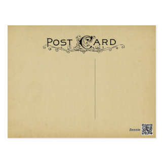 Blank Postcard Parchment Vintage Beige Background