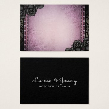 Halloween Themed BLANK Purple & Black Gothic Seating Cards 3.5x2.5