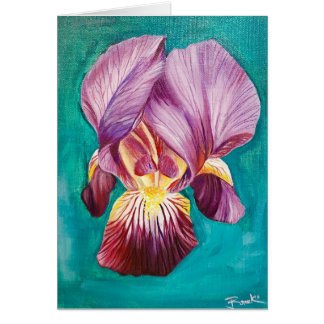 Blank Purple Iris Card