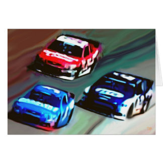 """Blank """"Race Day"""" Greeting Cards"""