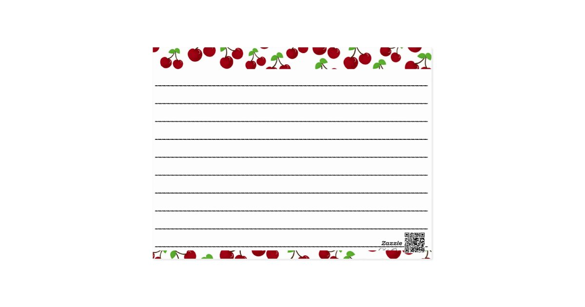 This is a photo of Bright Blank Recipe Card
