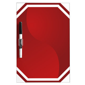 Blank Red Road Sign Stop Icon Dry-Erase Boards