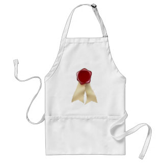 Blank Red Wax Seal and Ribbons Apron