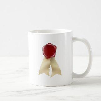 Blank Red Wax Seal and Ribbons Mugs