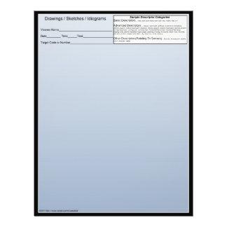 Blank Remote Viewing Idiogram Sheets w/descriptors Flyer