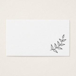 Blank Rustic Laurels Business Card