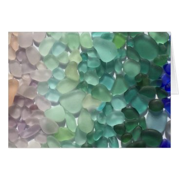 ElizabethBDesigns Blank Sea Glass Greeting Cards