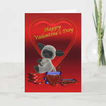 Blank, Sheep With Chocolate's Valentines' Day Card