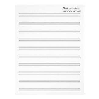 Blank Sheet Music 10 Stave