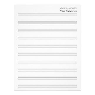 Blank Sheet Music 10 Stave Letterhead