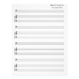 Blank Sheet Music Bass Clef
