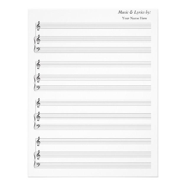 treble clef blank sheet music