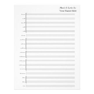 Blank Sheet Music  Brass Band Letterhead