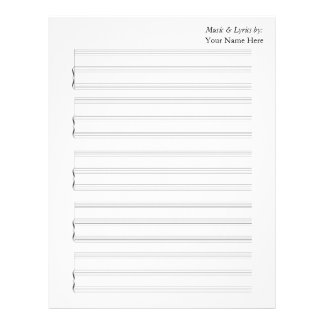 Blank Sheet Music for Piano and Voice