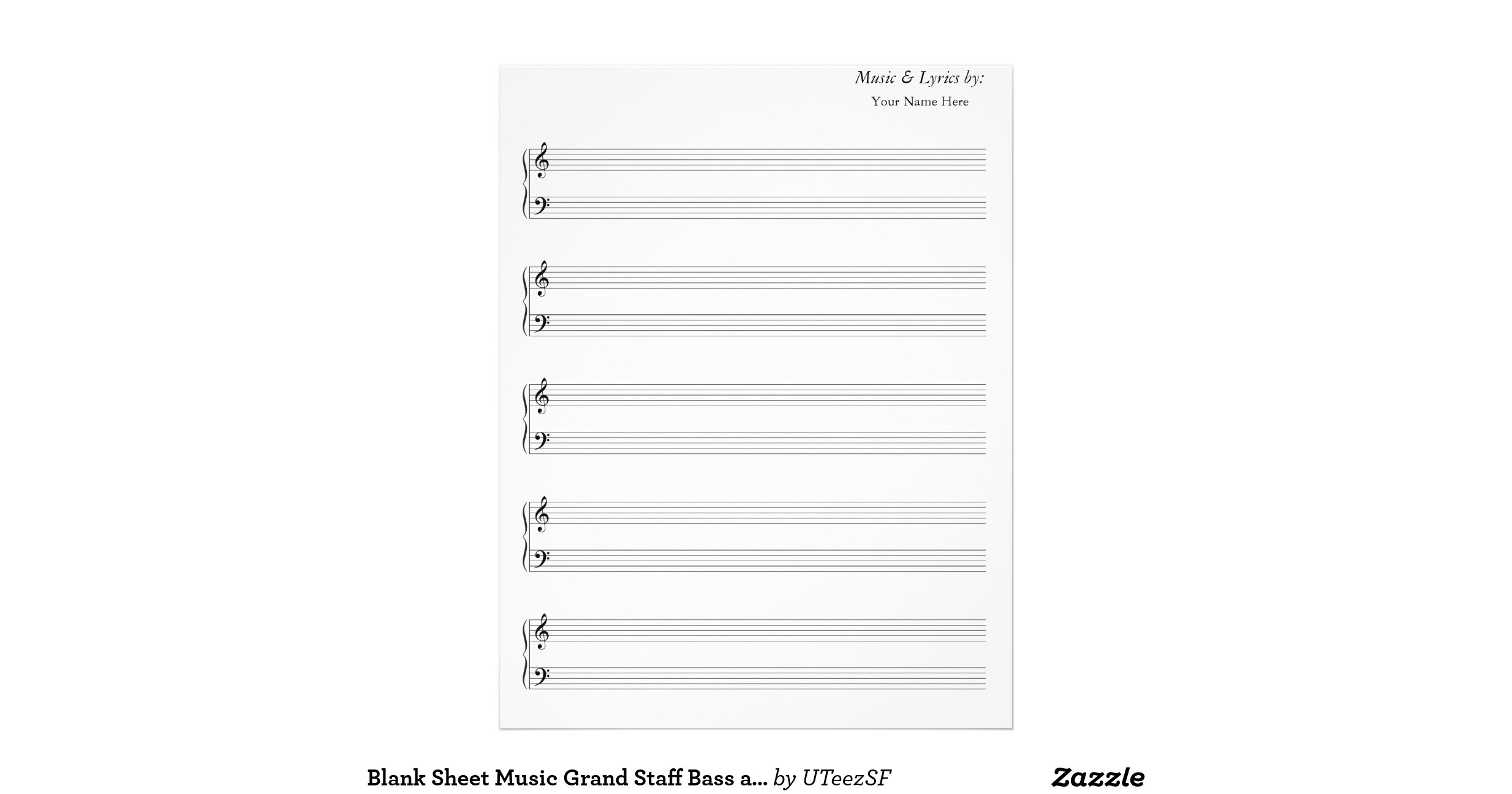 free printable music staff paper
