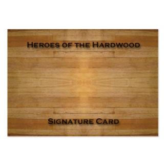 Blank Signature Card for basketball autographs! Business Card