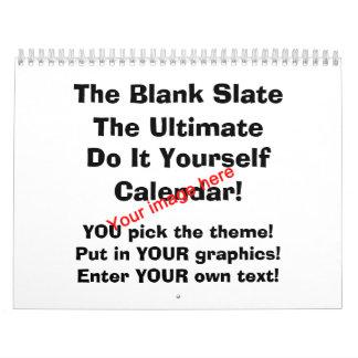 Blank Slate Calendar