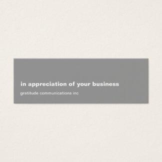 Blank Slate Grey Appreciation Mini Business Card