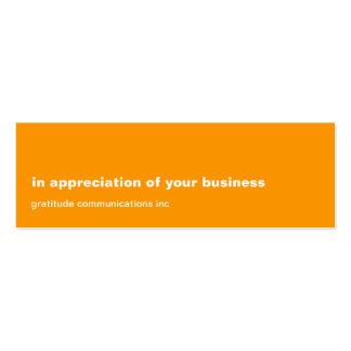 Blank Slate Orange Appreciation Double-Sided Mini Business Cards (Pack Of 20)