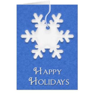 Blank Snowflake Happy Hoidays Card