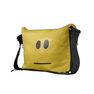 Blank Stare Emote Emoticon Courier Bag