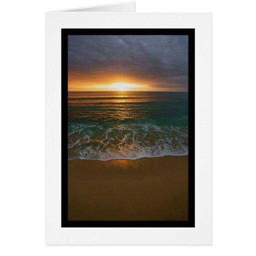 Blank Sunrise Card
