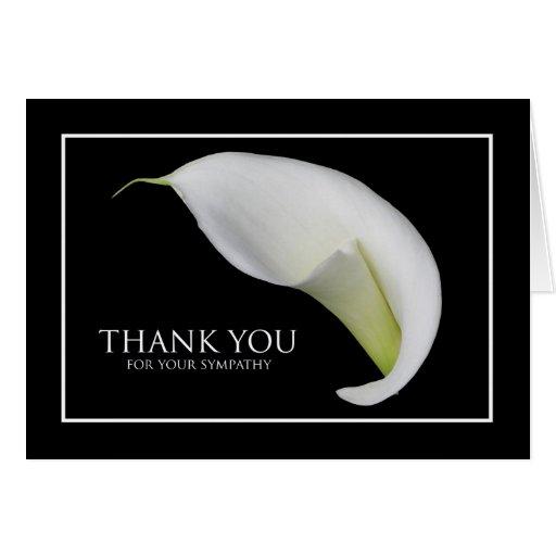 Blank Sympathy Thank You Card