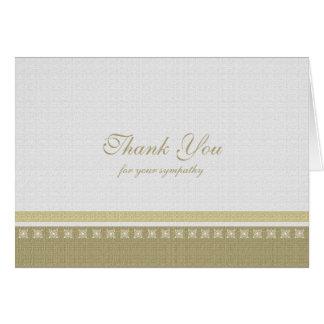 Blank Sympathy Thank You Card - Classic Elegance