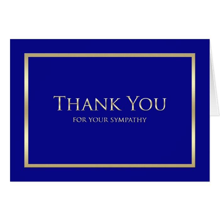 Blank Sympathy Thank You Card - Classic Navy | Zazzle