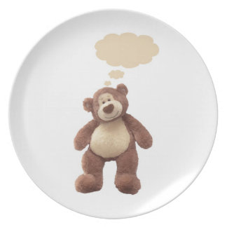 Blank Teddy Plate - Add name or Date Plate